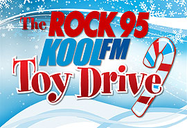 Rock 95 toy drive logo